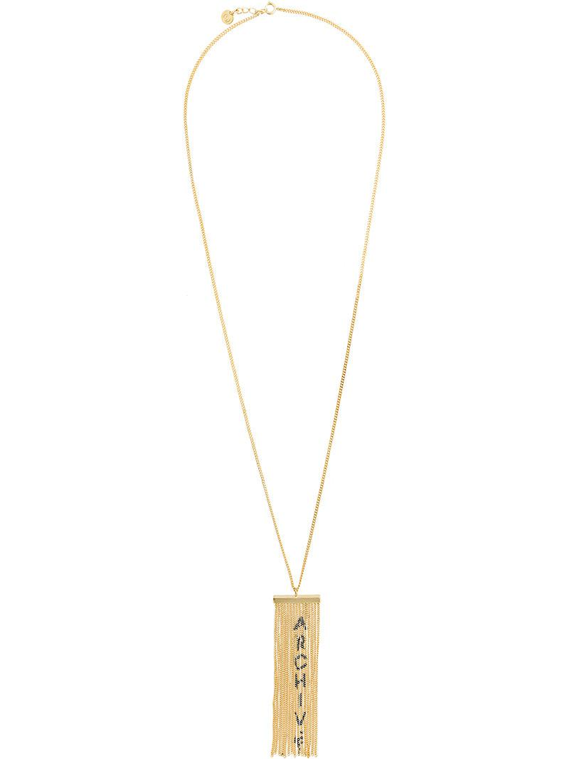 Maison Martin Margiela archive fringed necklace - Metallic rb9QrL0kfn