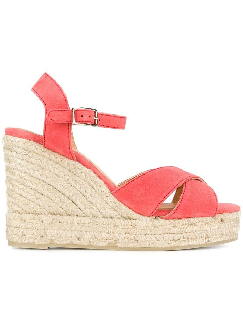 2eac1ac934c Castaner Blaudell Wedge Sandals in Pink - Lyst