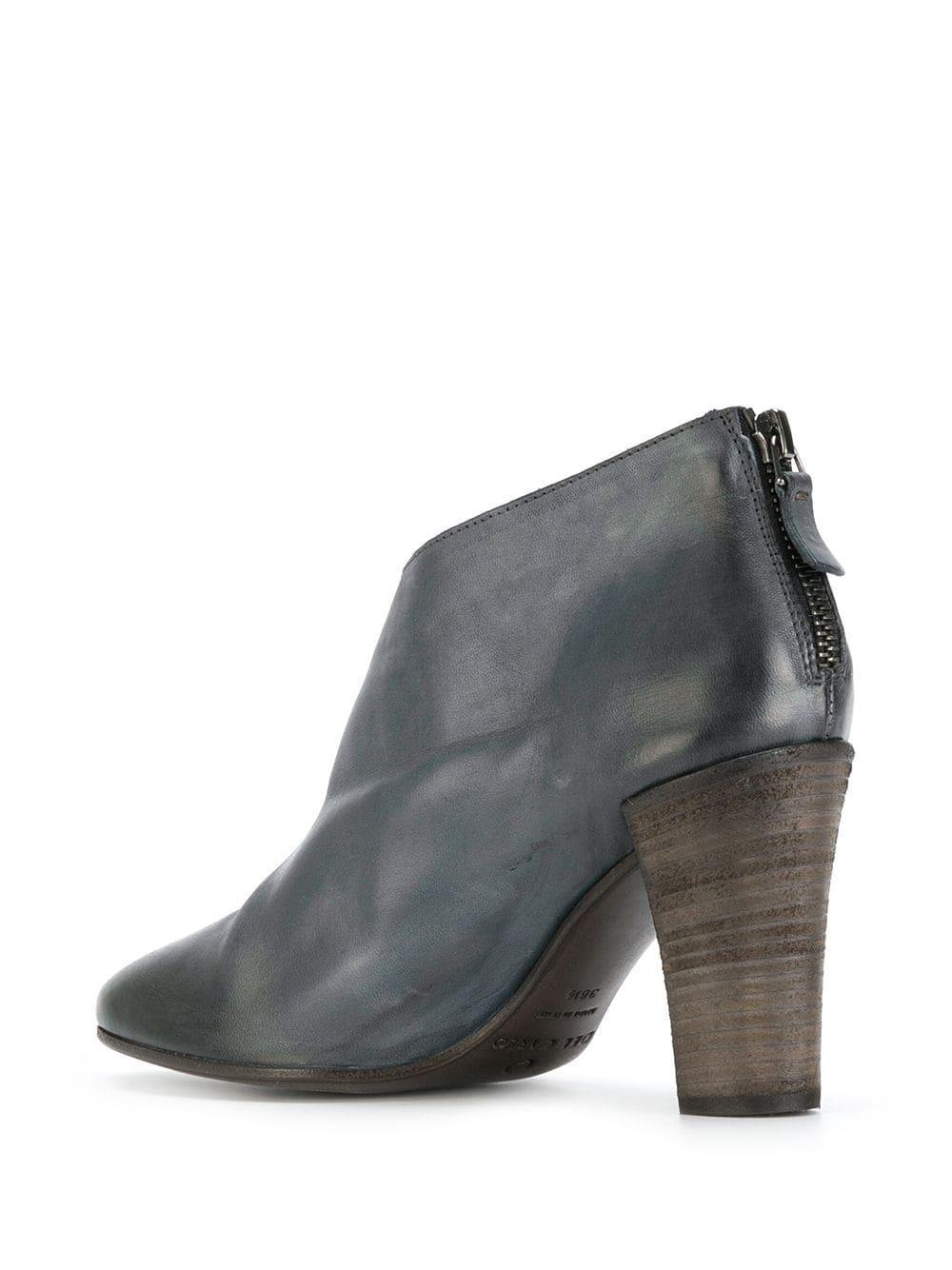 Roberto Del Carlo Leather Cut Out Detail Boots in Grey (Grey)