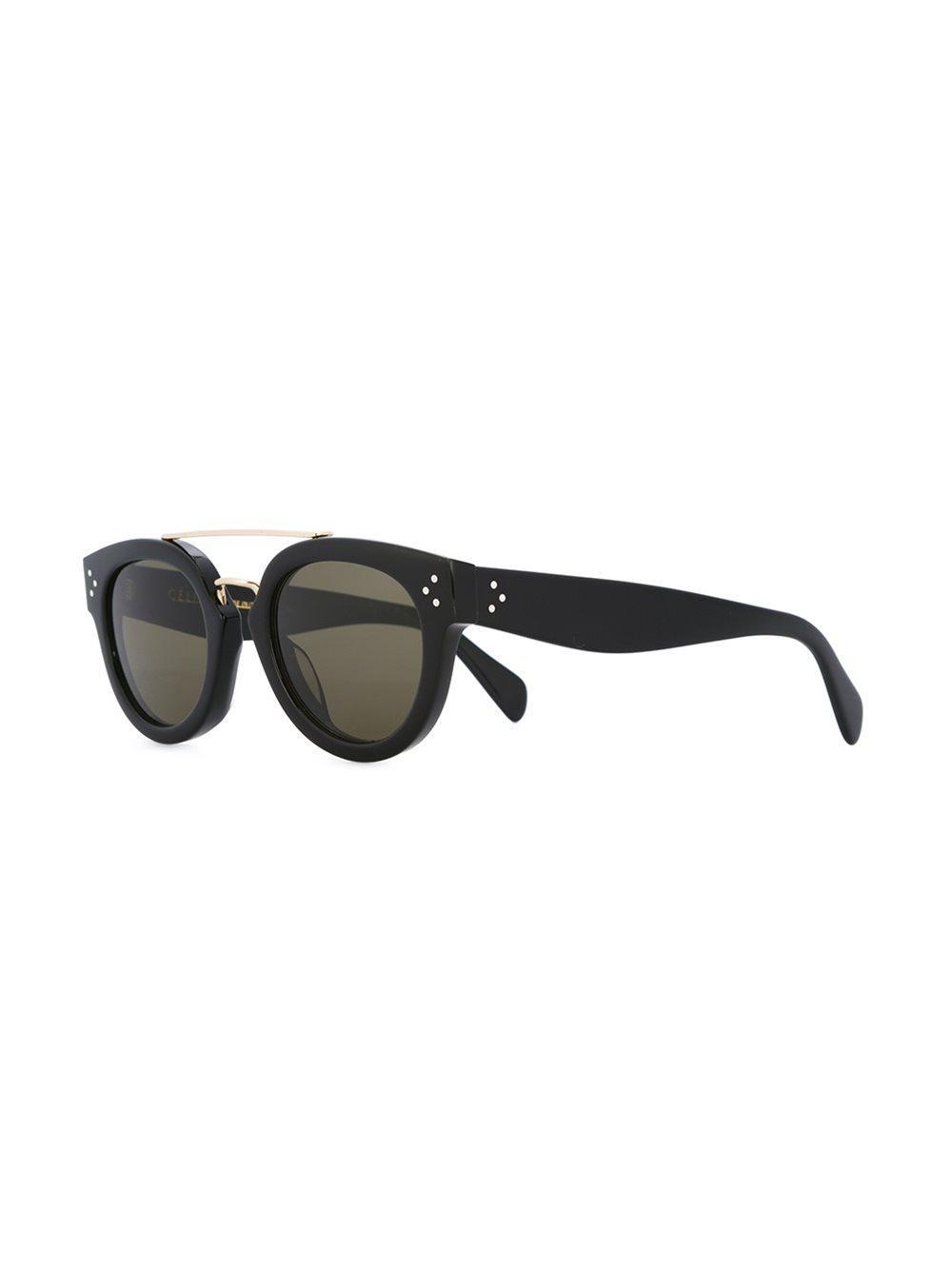 Celine Round Frame Sunglasses in Black
