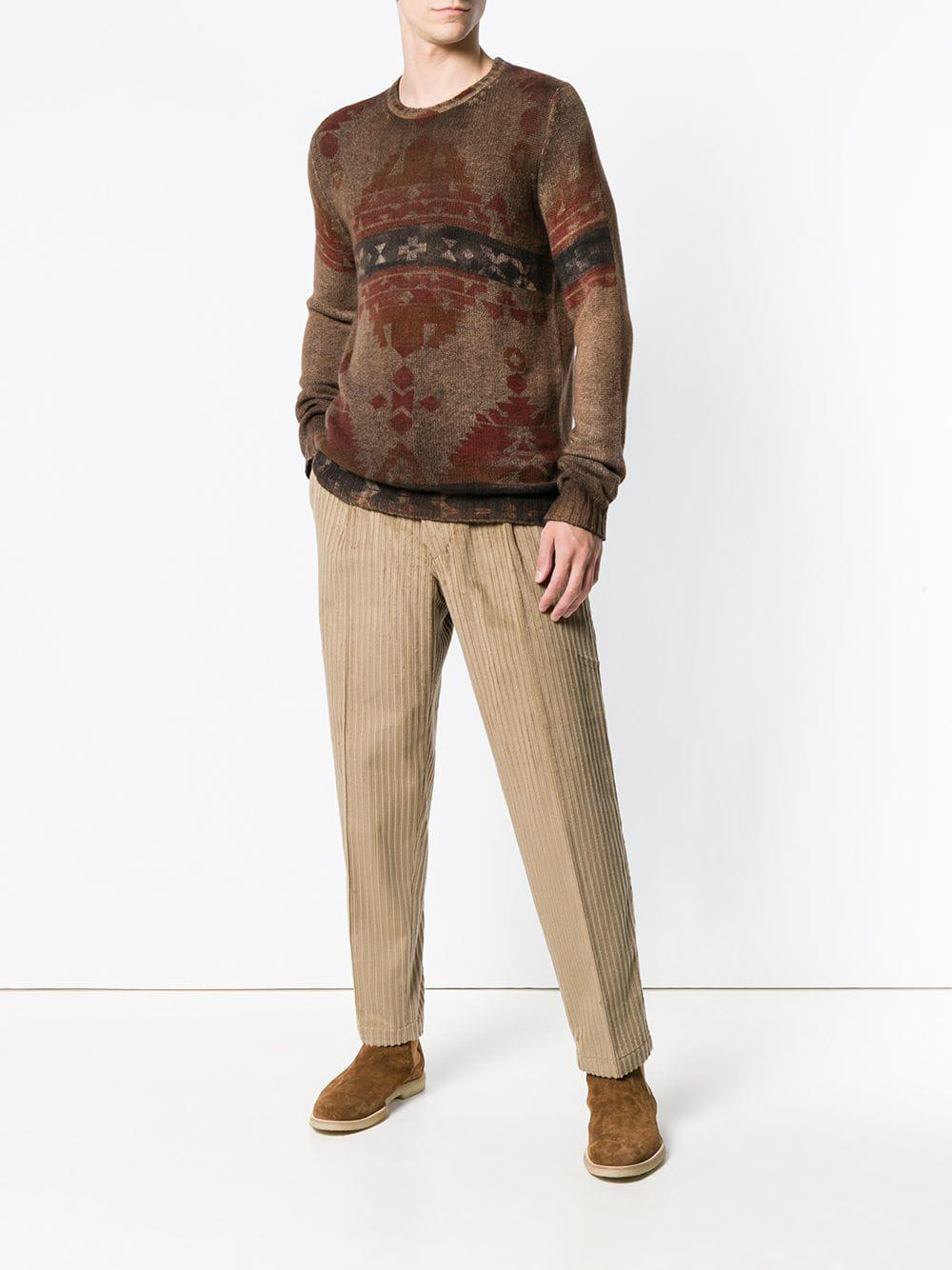 The Gigi Cotton Tonga Trousers in Brown for Men
