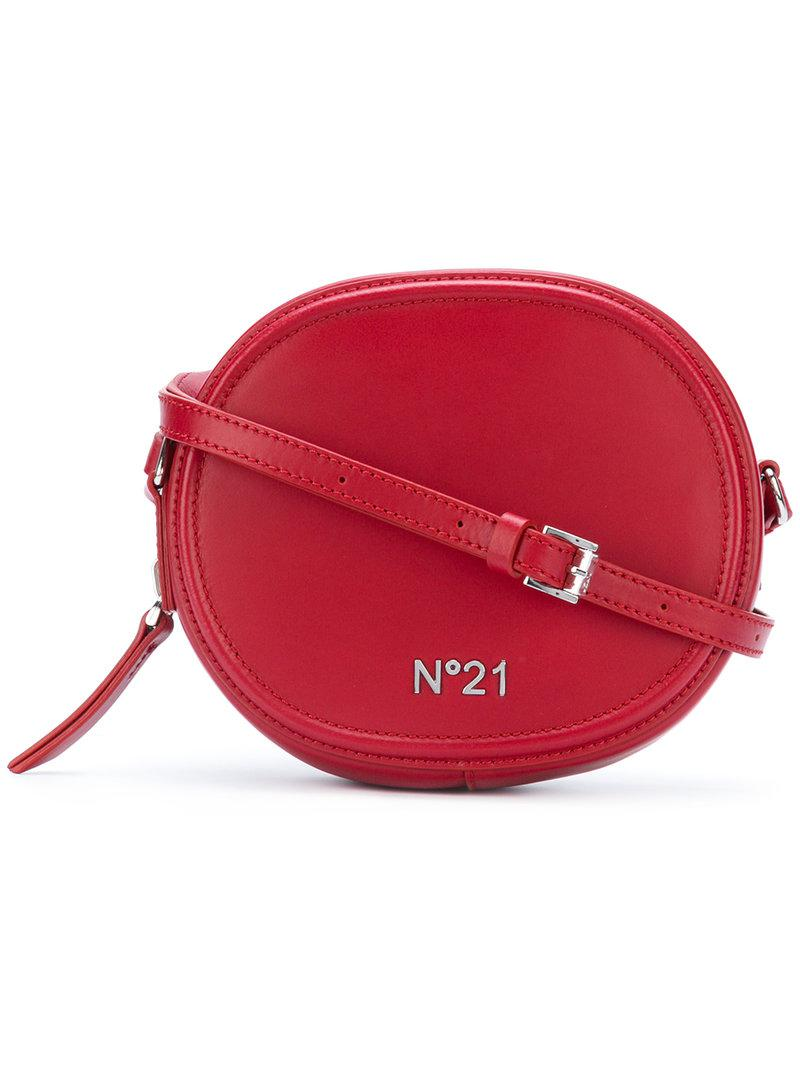 N 176 21 Leather Round Crossbody Bag In Red Lyst