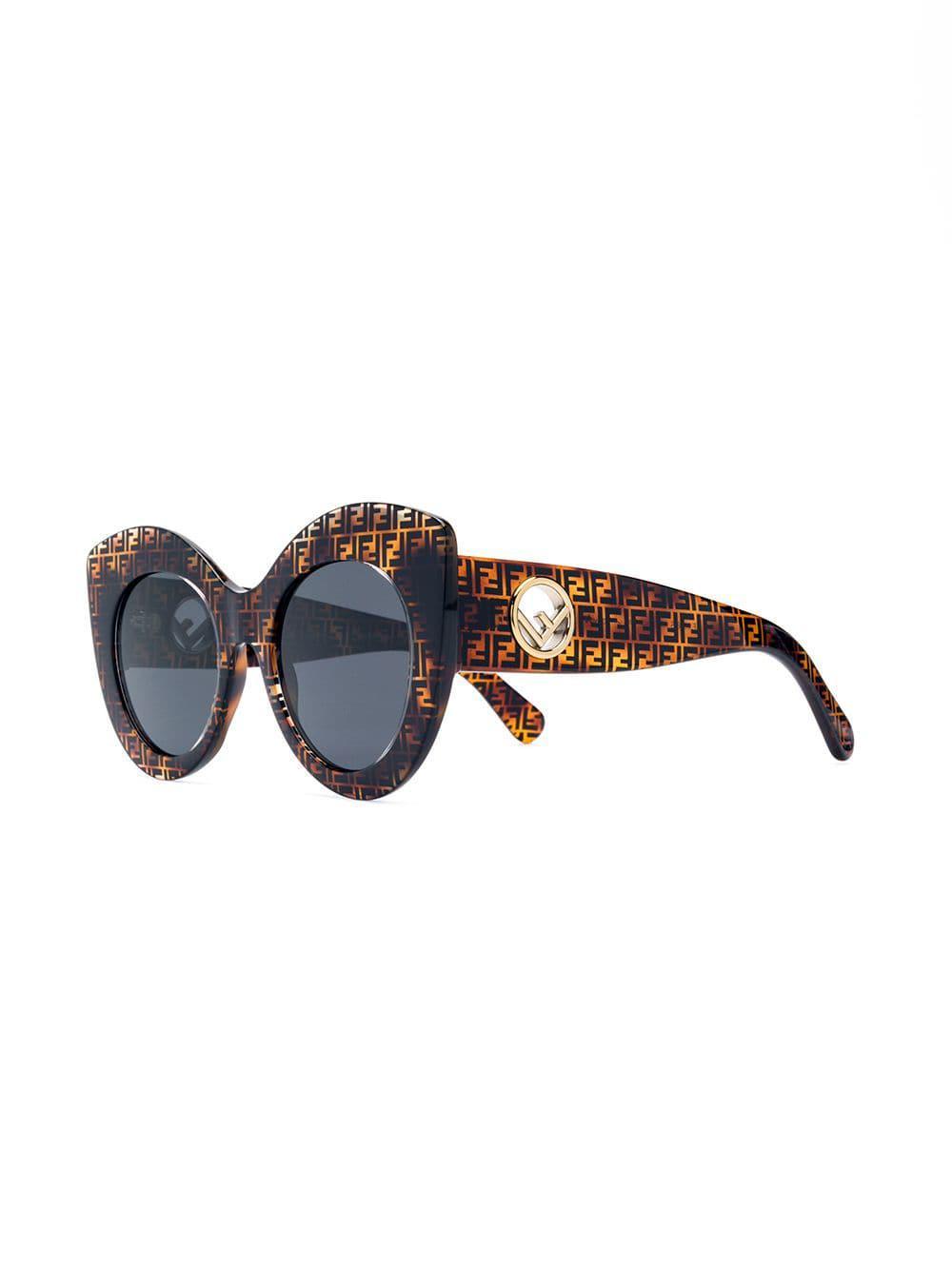 39454d5c15b0 Fendi F Is Fendi Sunglasses in Brown - Lyst