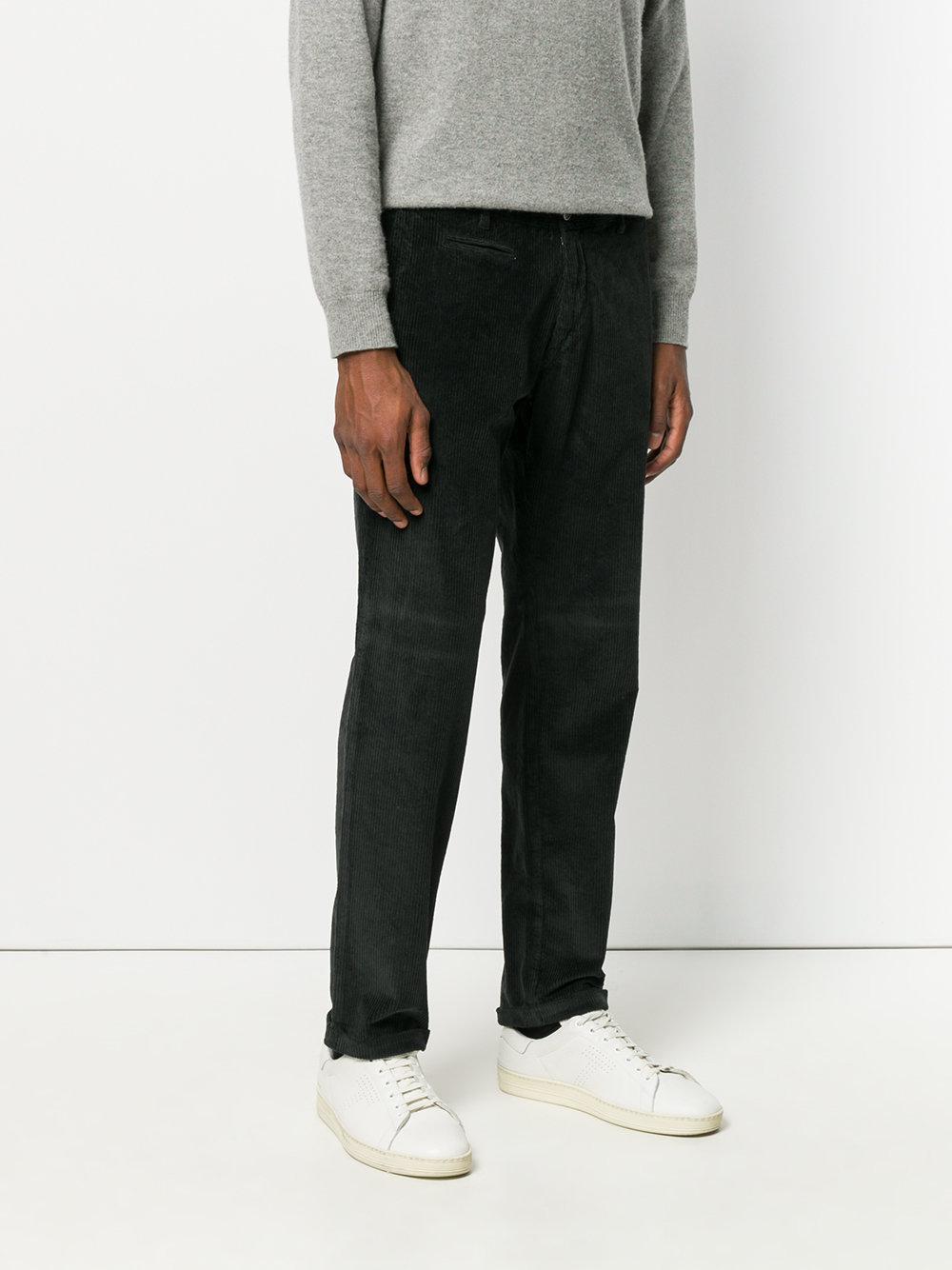 Barena Corduroy Trousers in Black for Men