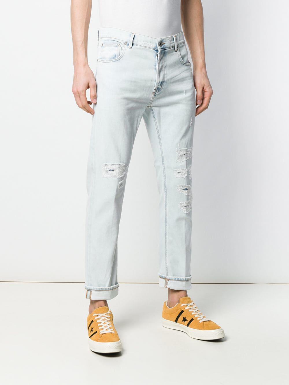 Dondup Denim Carrot-fit Jeans in het Blauw voor heren