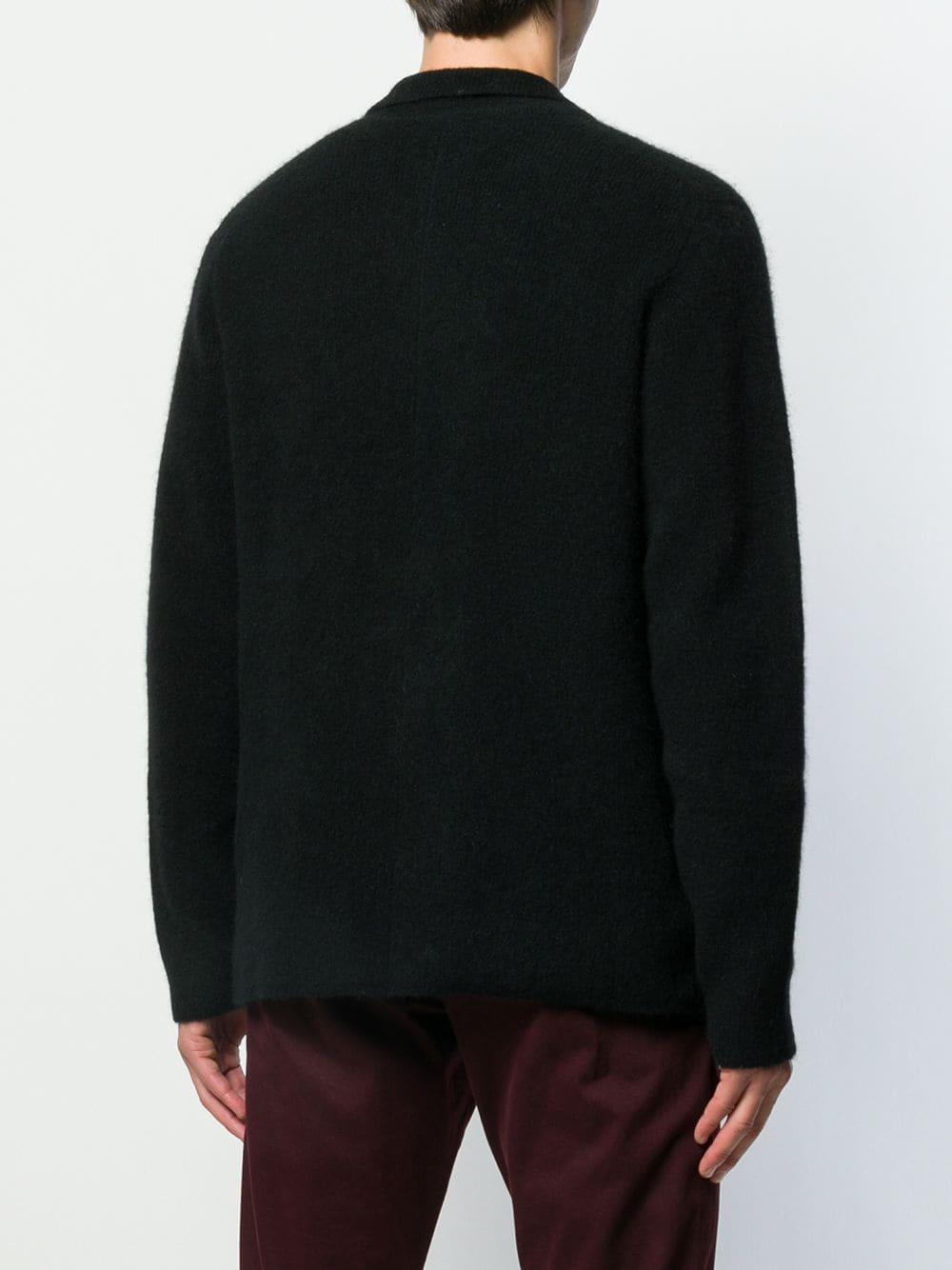 Roberto Collina Wol Vest Met Dubbele Rij Knopen in het Zwart voor heren