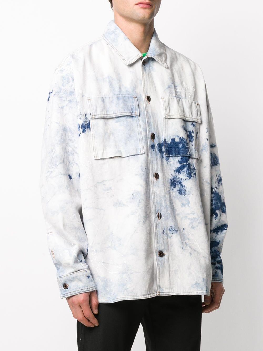 Off-White c/o Virgil Abloh Denim Overhemd in het Blauw voor heren