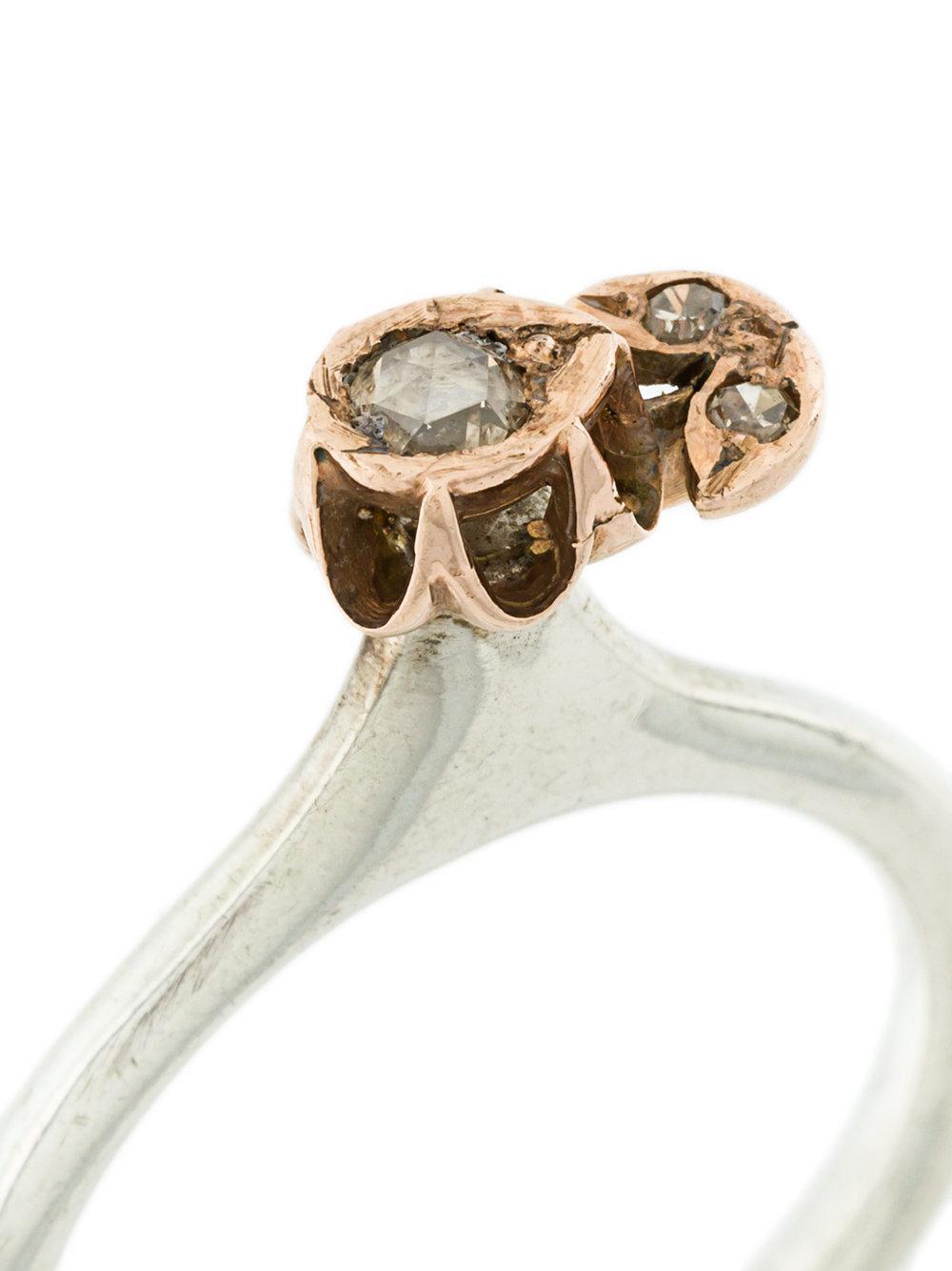 Rosa Maria Ipek Ring in Metallic