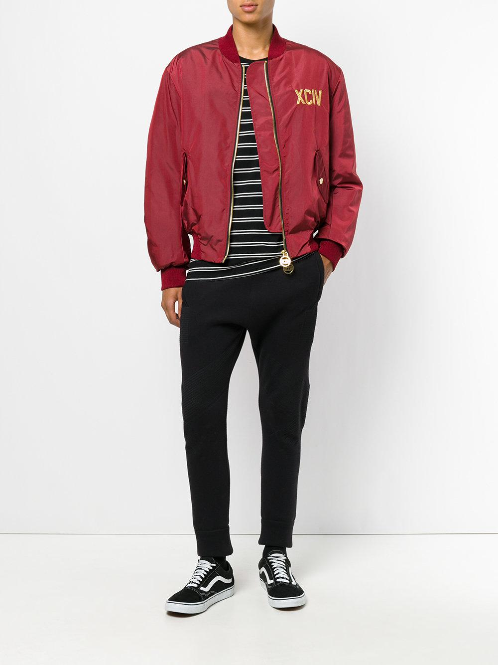 Gcds Synthetic Bomber Jacket in Red for Men