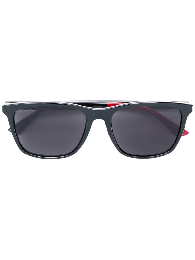 00f069690b Lyst - Gucci Square Frame Sunglasses in Black for Men
