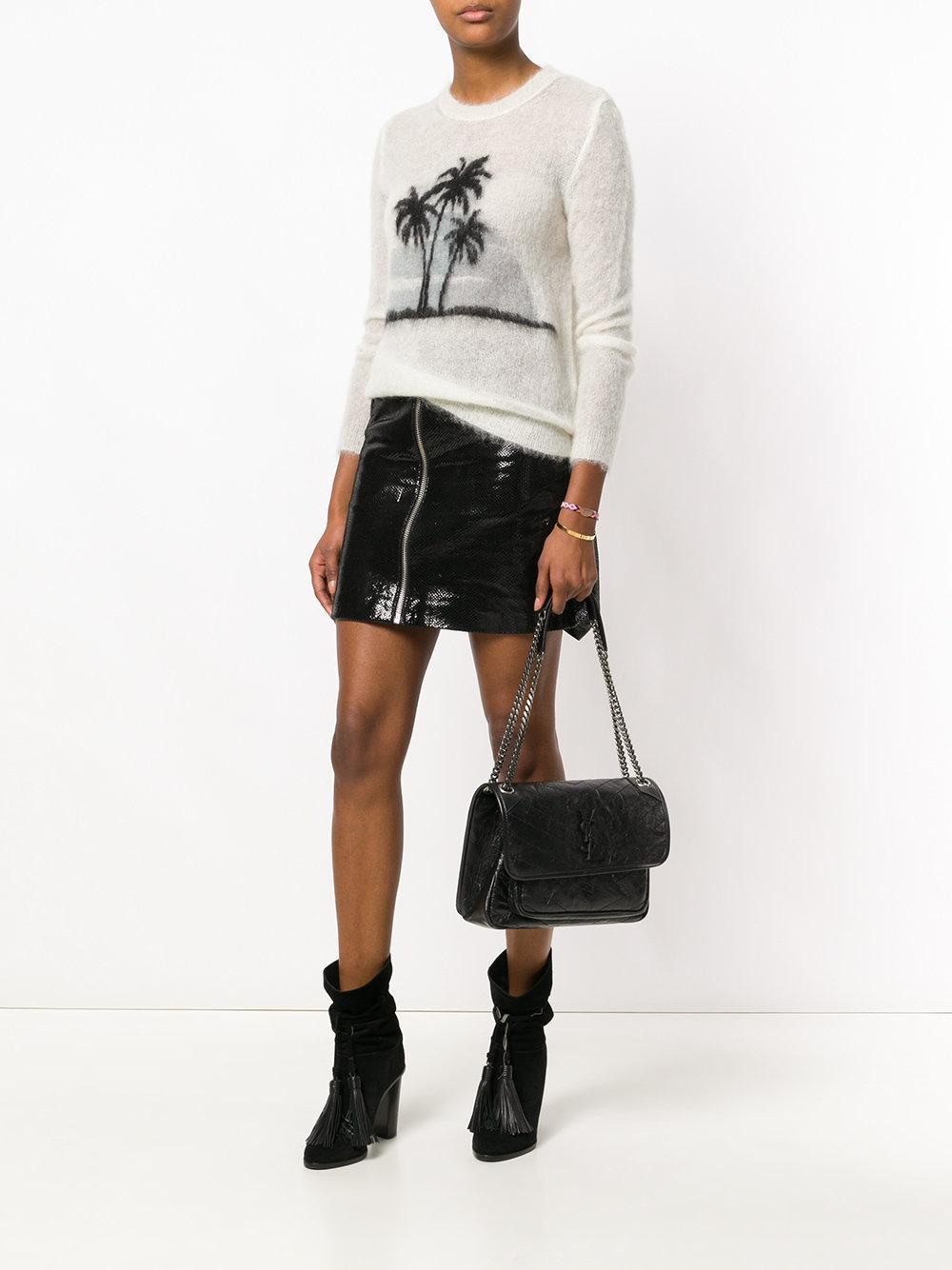 Saint Laurent Leather Medium Niki Chain Bag In Black Lyst