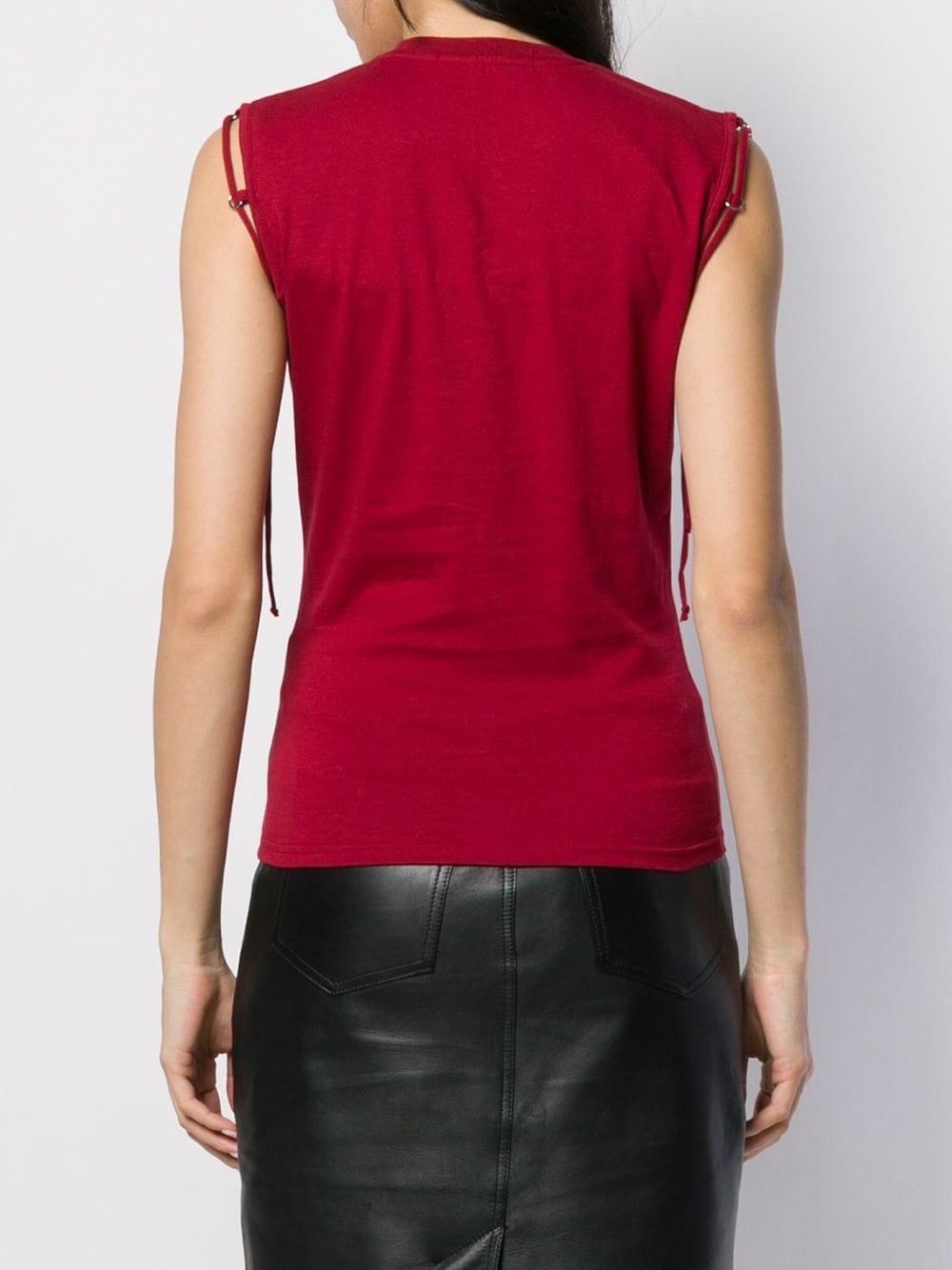 Top sans manches à détail de chaîne Hyein Seo en coloris Rouge