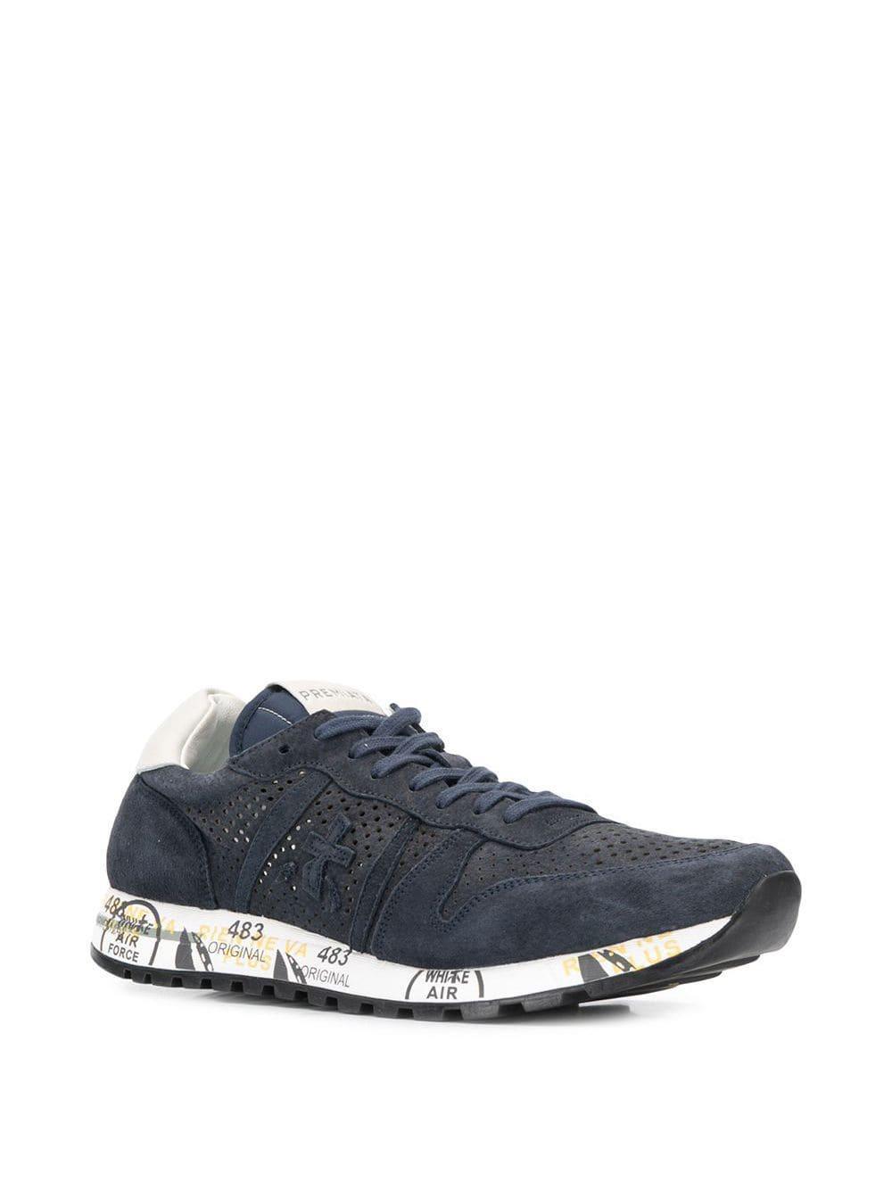 Premiata Leer Eric Sneakers in het Blauw voor heren