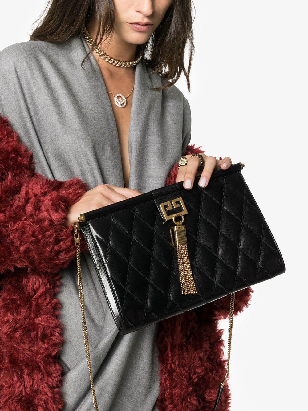 Givenchy - Black Gem Medium Quilted Leather Shoulder Bag - Lyst. View  fullscreen af75f88cac