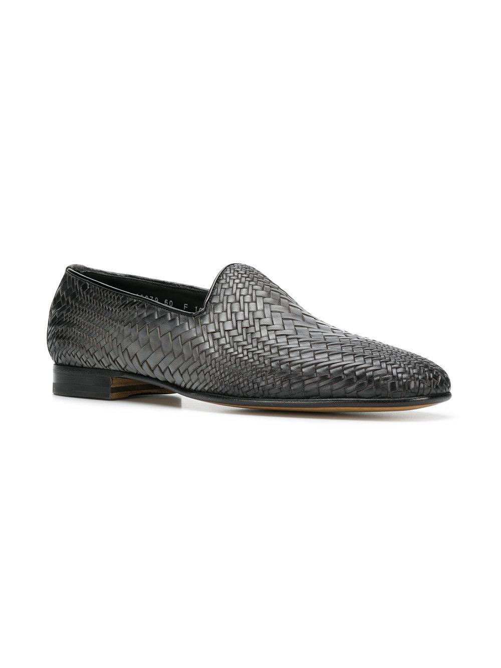 Santoni faded woven loafers deals online 4roCUX