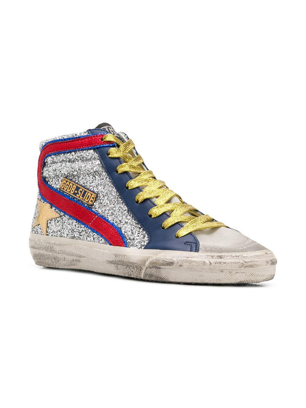 84325bf345cd Golden Goose Deluxe Brand - Metallic Mid Star Sneakers - Lyst. View  fullscreen