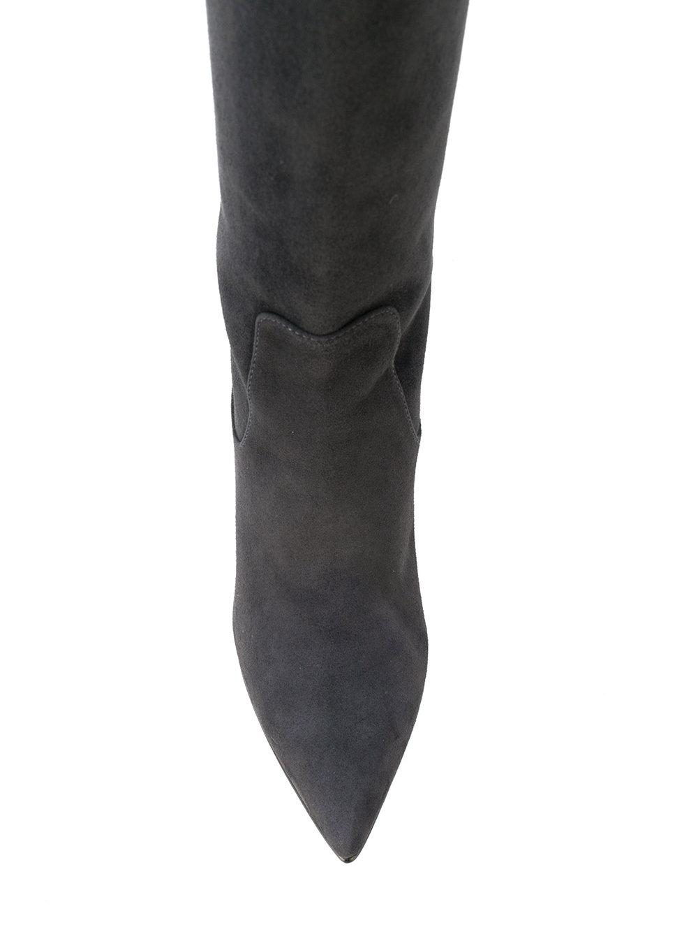 Unützer Suede Knee Boots in Grey (Grey)