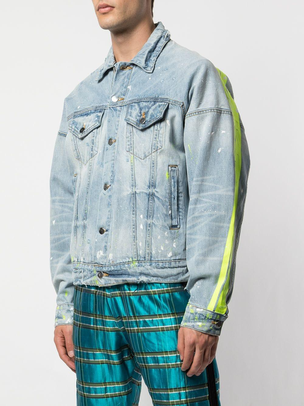 Paint Splash Denim Jacket