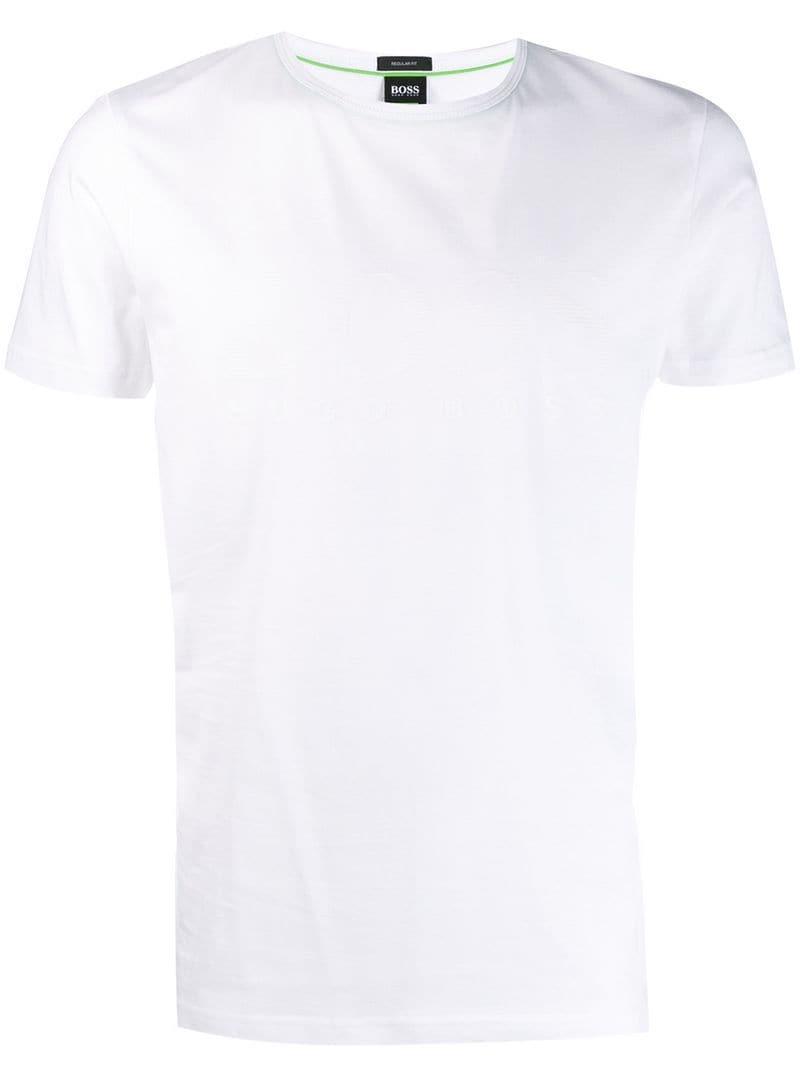 e78ecc286 BOSS Logo T-shirt in White for Men - Lyst