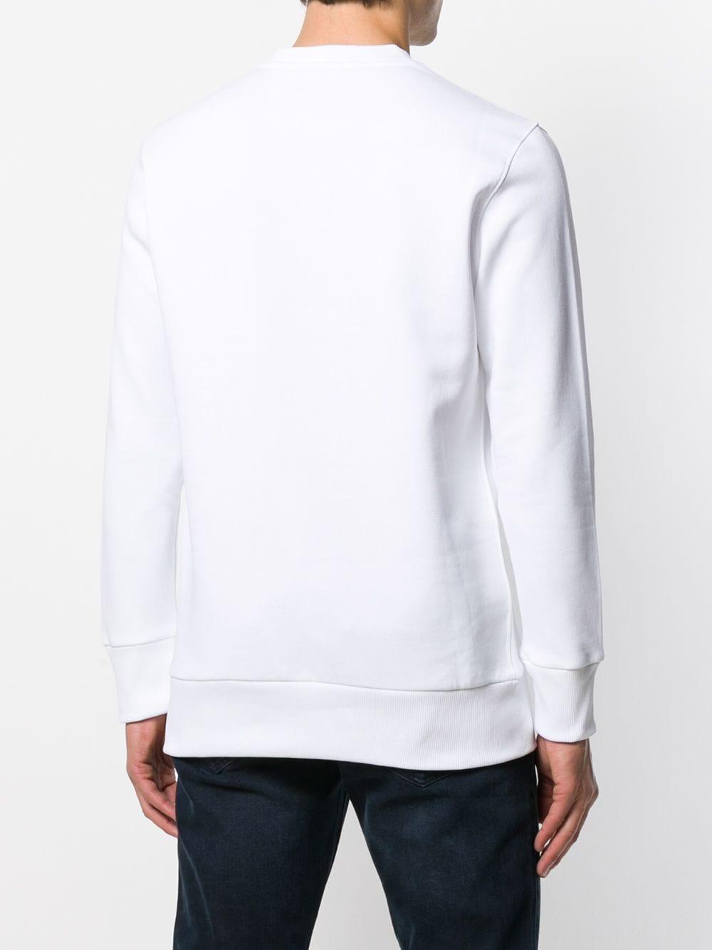 Fefe Synthetisch Sweater Met Patch in het Wit voor heren