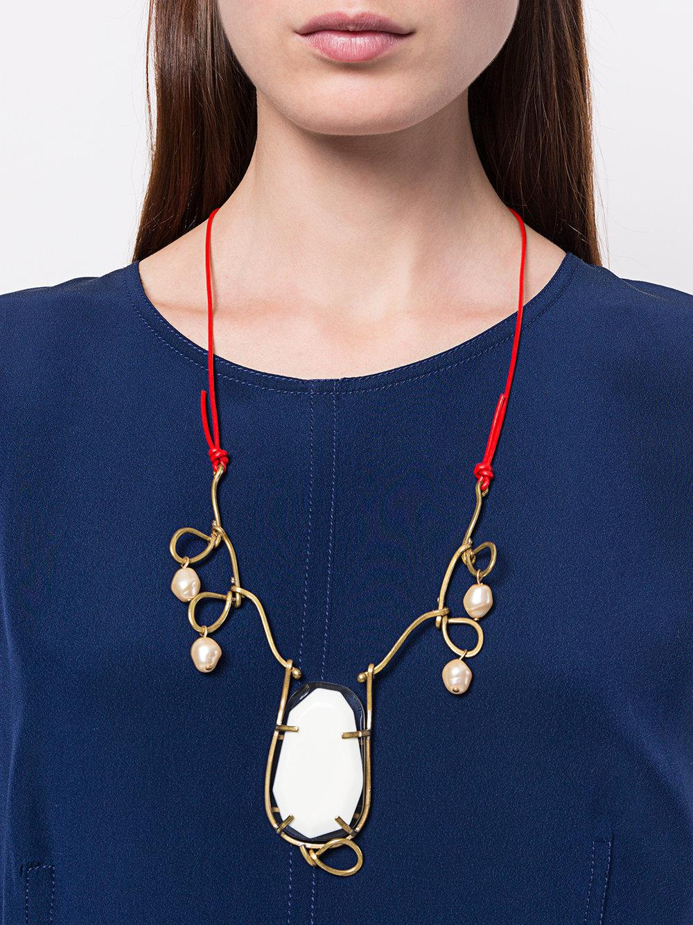 Marni Twisted Wire Necklace in Metallic