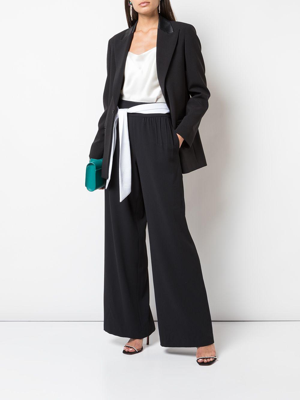 Pantalones Merena con cintura lazada Alice + Olivia de color Negro