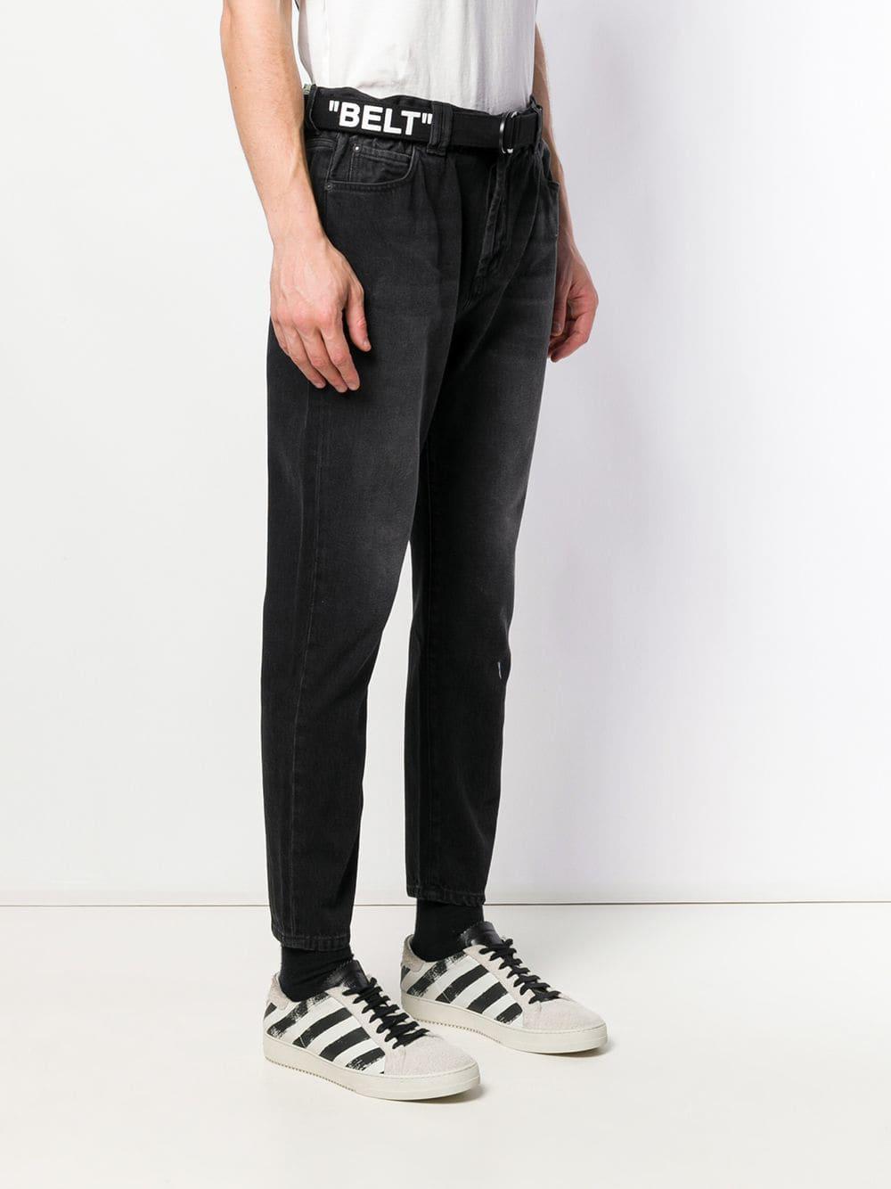 Off-White c/o Virgil Abloh Denim Tapered Jeans in het Zwart voor heren