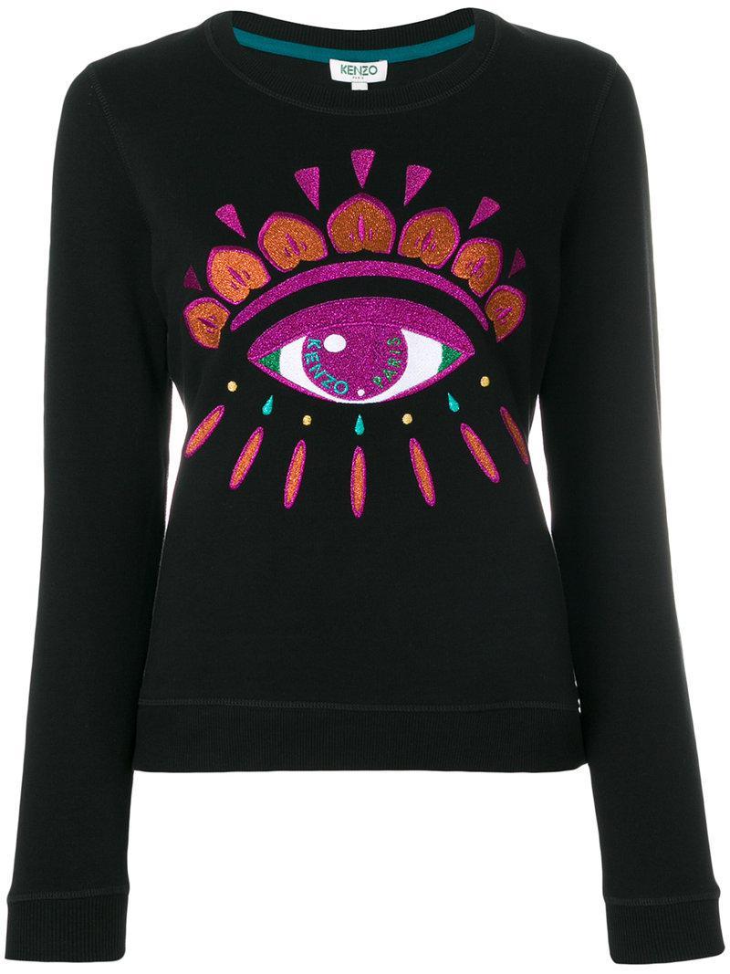 Kenzo Eye Embroidered Sweatshirt in Black