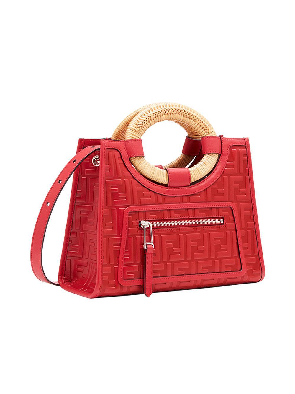 Fendi - Red Runaway Shopper Bag - Lyst. View fullscreen b397c1aaaa4bb