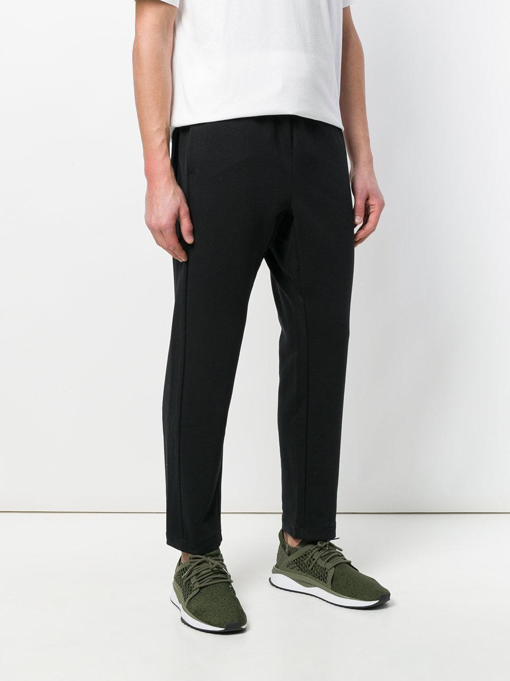 Nike Cotton Hybrid Track Trousers in Black for Men
