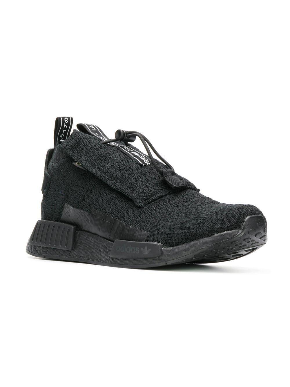 25e8c219f1ec44 adidas Black Nmd Ts1 Pk Gore-tex Primeknit Sneakers in Black for Men - Lyst