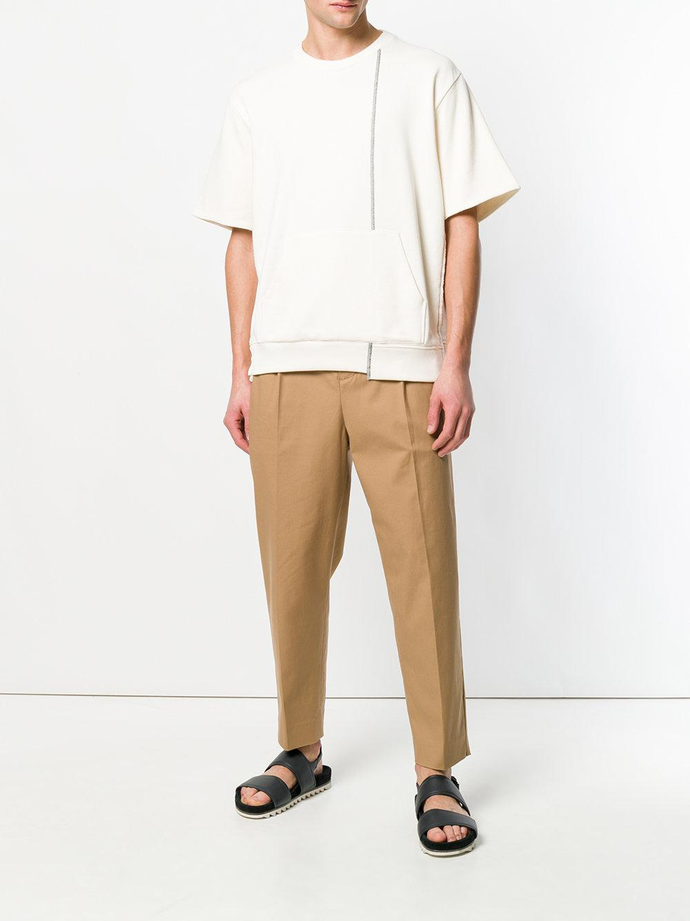 3.1 Phillip Lim Cotton High-waist Tailored Trousers in Brown for Men