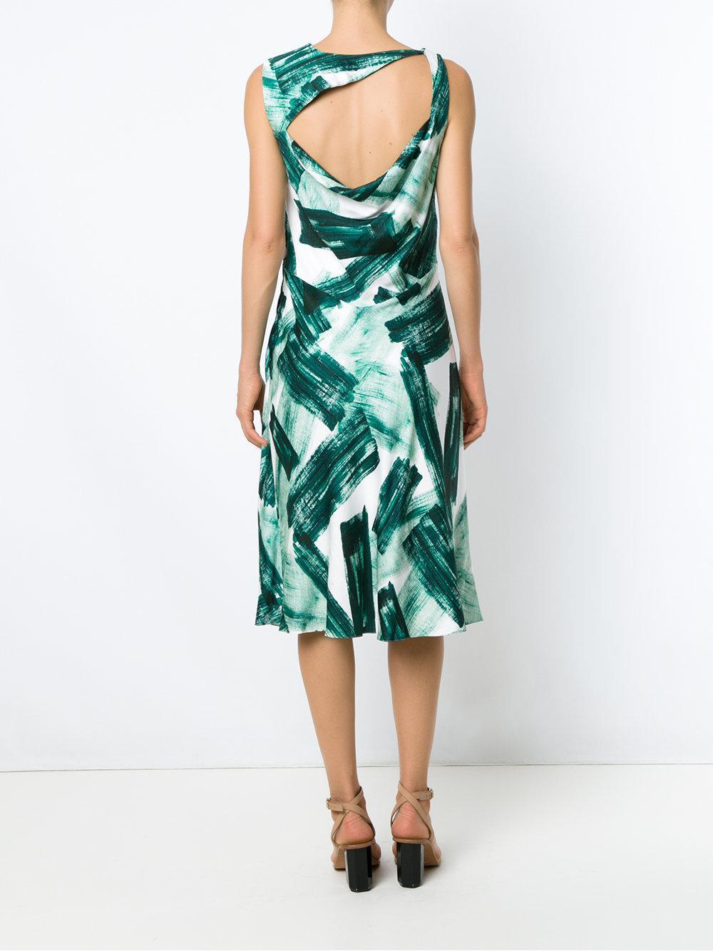 Cheap Huge Surprise printed straight dress - White Mara Mac Under 50 Dollars 084lxN