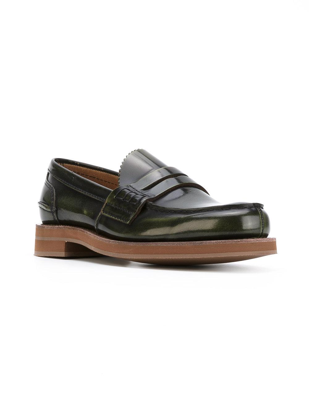 4eee007620d Church s Loafer Shoes in Green for Men - Lyst