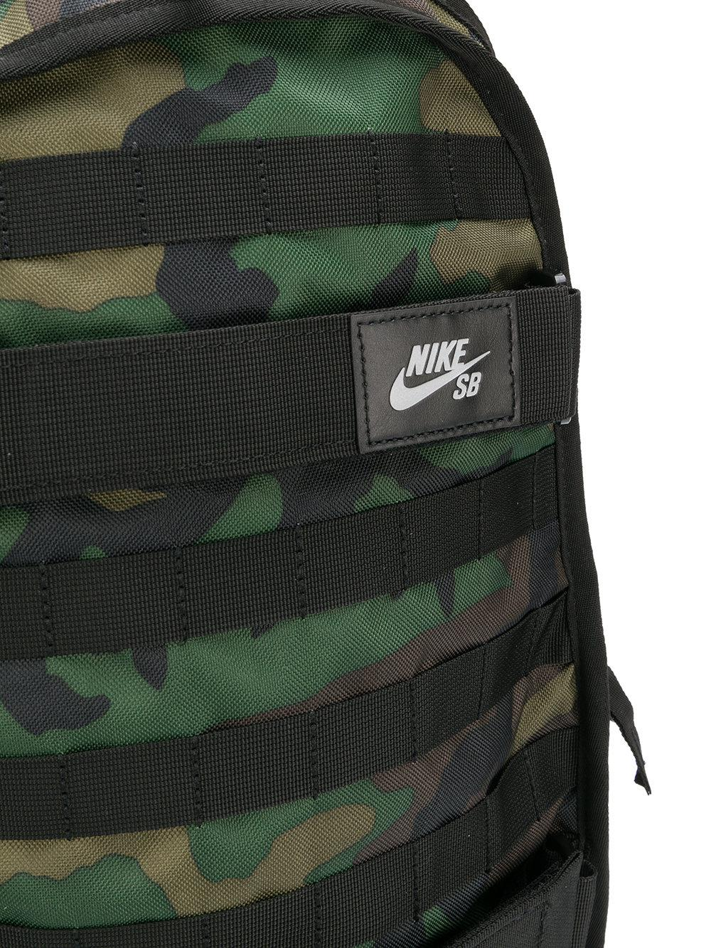 Nike Camouflage Backpack in Green for Men