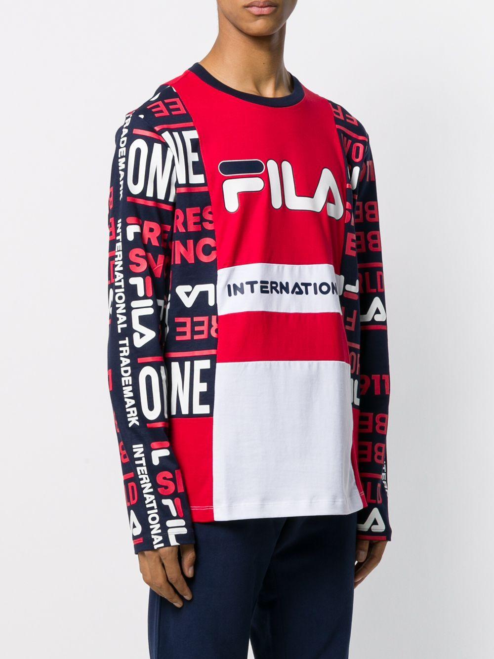 Fila Sweater Met Logoprint in het Rood voor heren