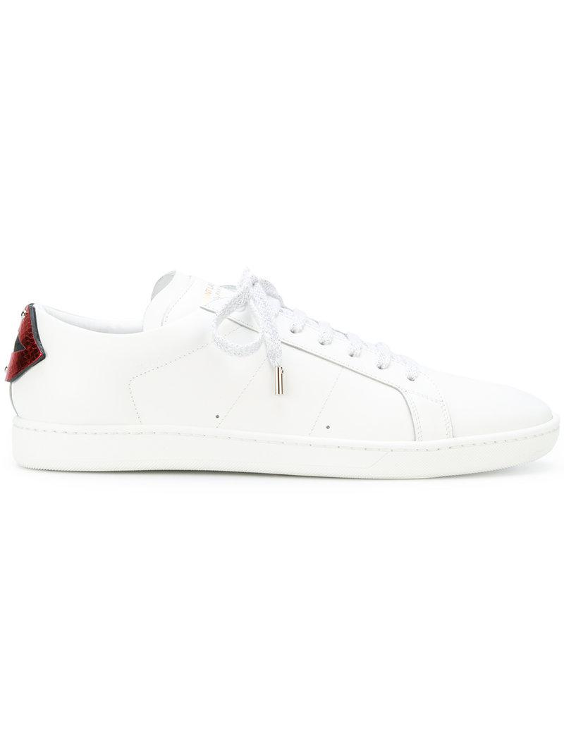 contrast lips sneakers - White Saint Laurent h3KSC