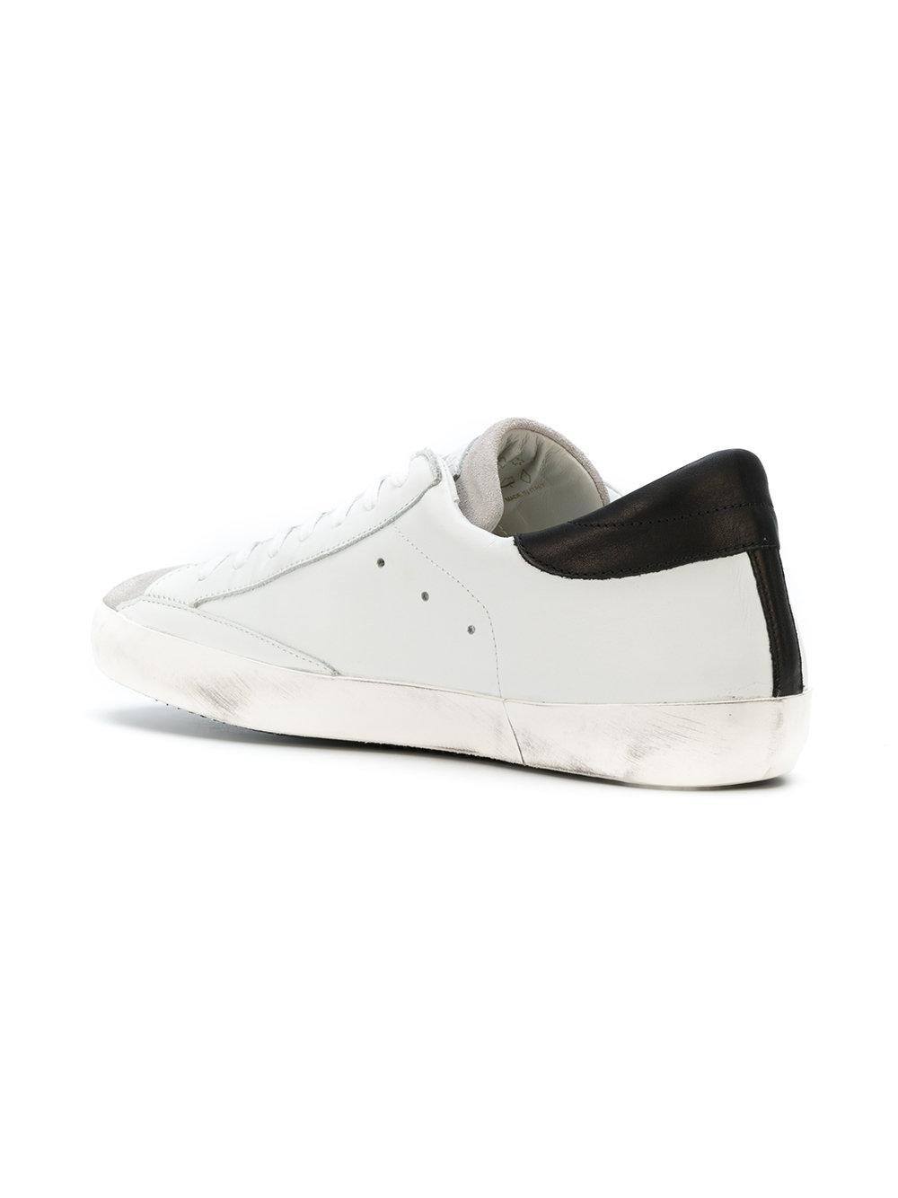 Baskets à patch logo latéral Cuir Philippe Model pour homme en coloris Blanc LcQw