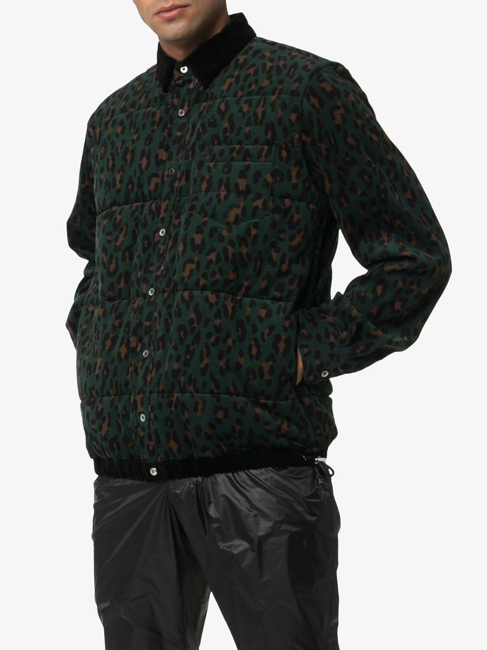 Sacai Synthetisch Jack Met Luipaardprint in het Groen voor heren