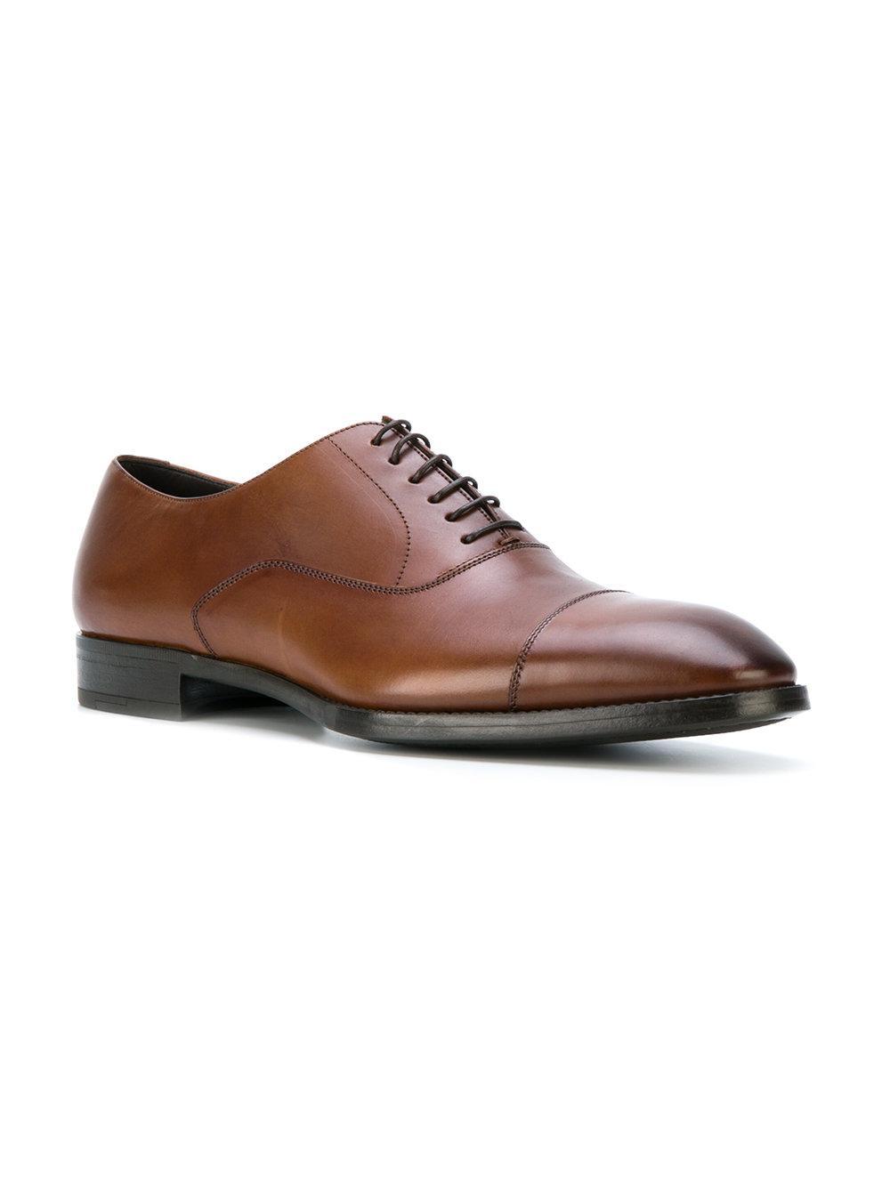 Giorgio armani Oxford Shoes in Brown for Men | Lyst