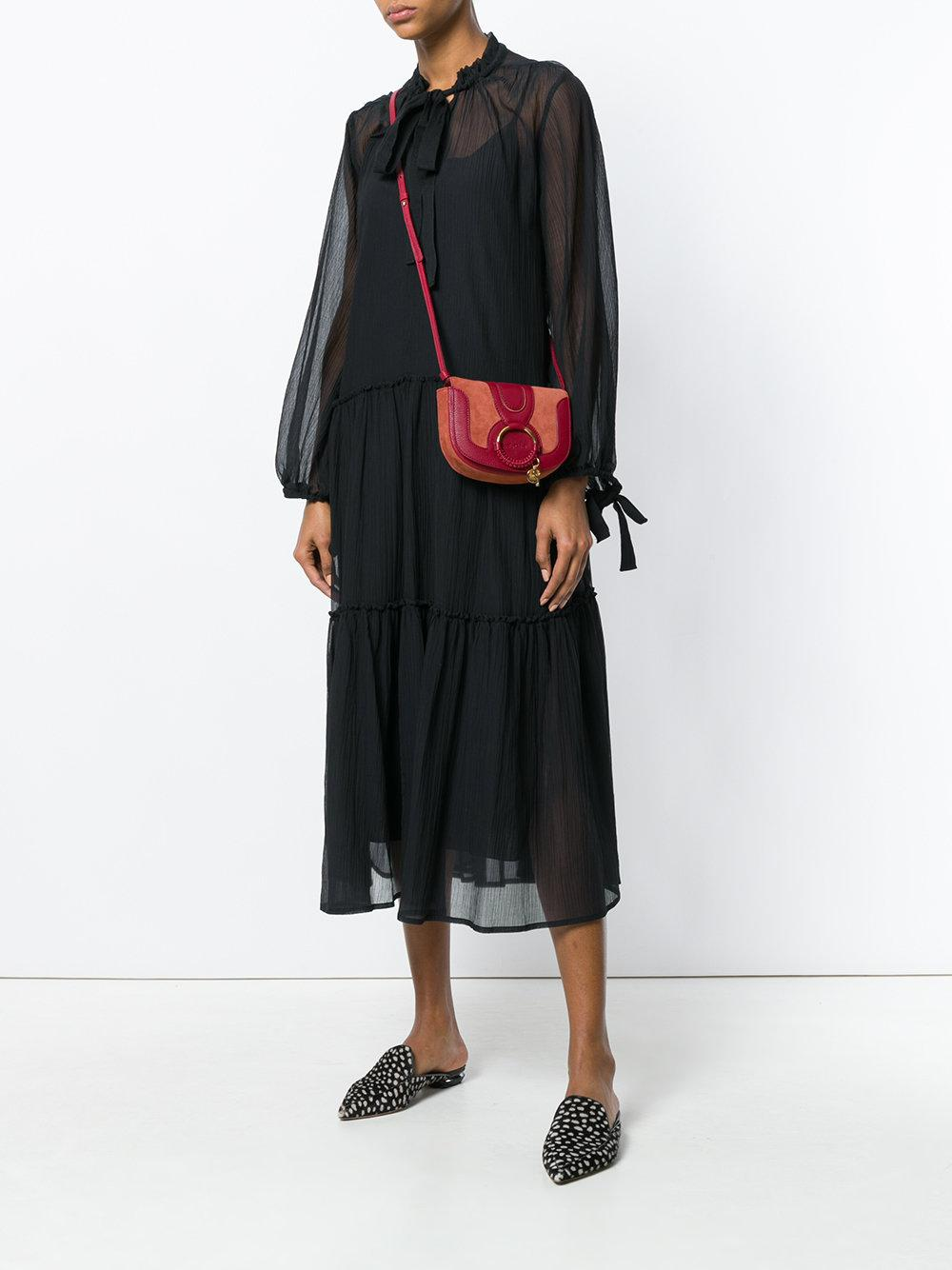 See By Chloé Cotton Hana Small Crossbody Bag in Red