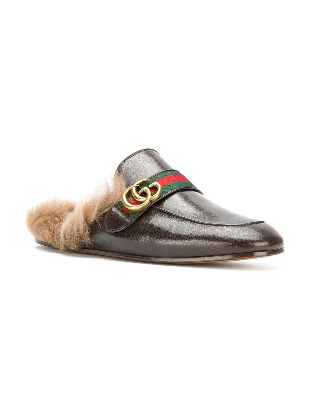 81b21267fa5 Lyst - Gucci Princetown Appliqué Slippers in Brown for Men