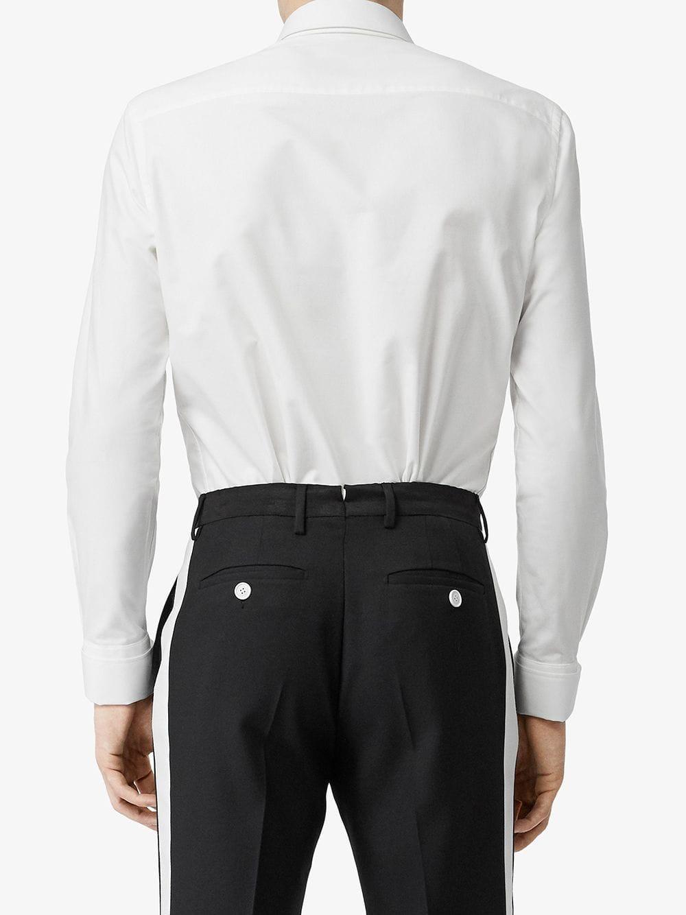Burberry Baumwolle Hemd mit abnehmbarem Kragen in Weiß für Herren