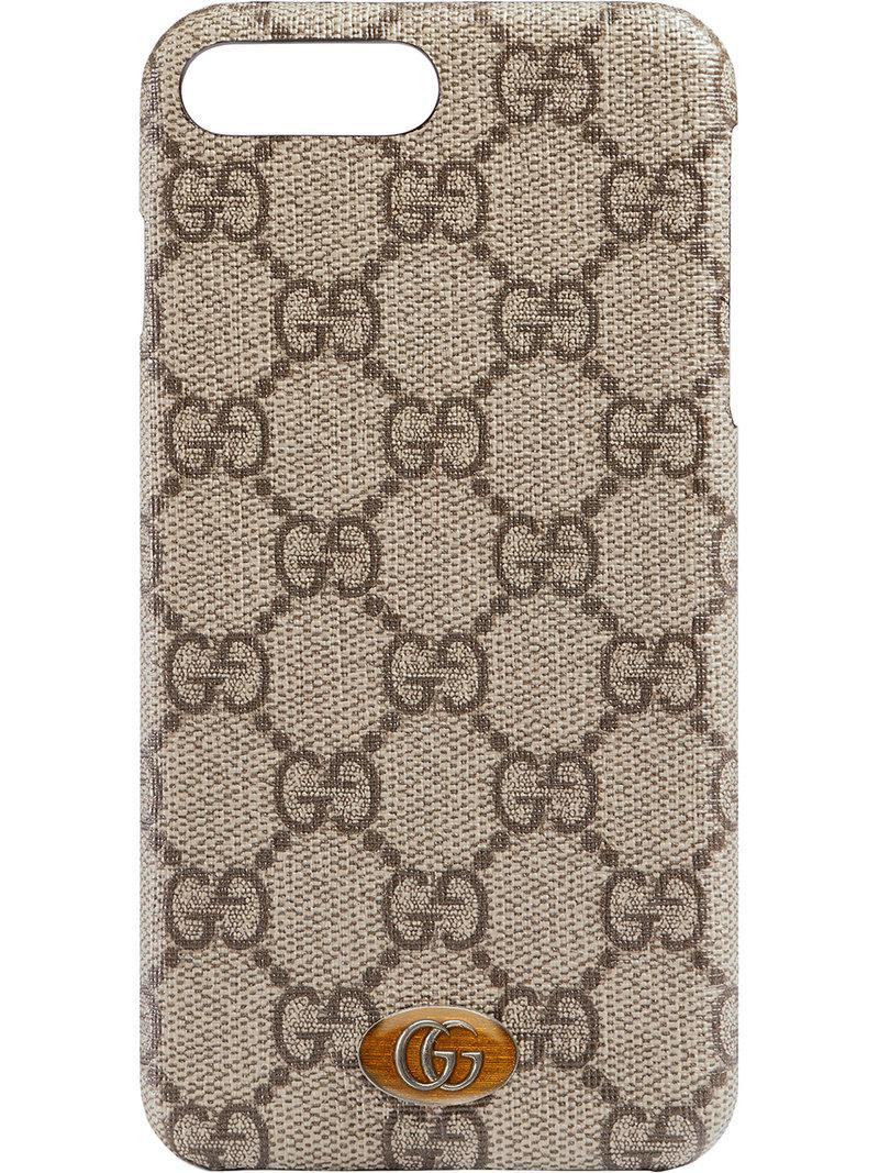 Lyst - Funda Ophidia para iPhone 8 Plus Gucci de color Marrón 49738941b1a