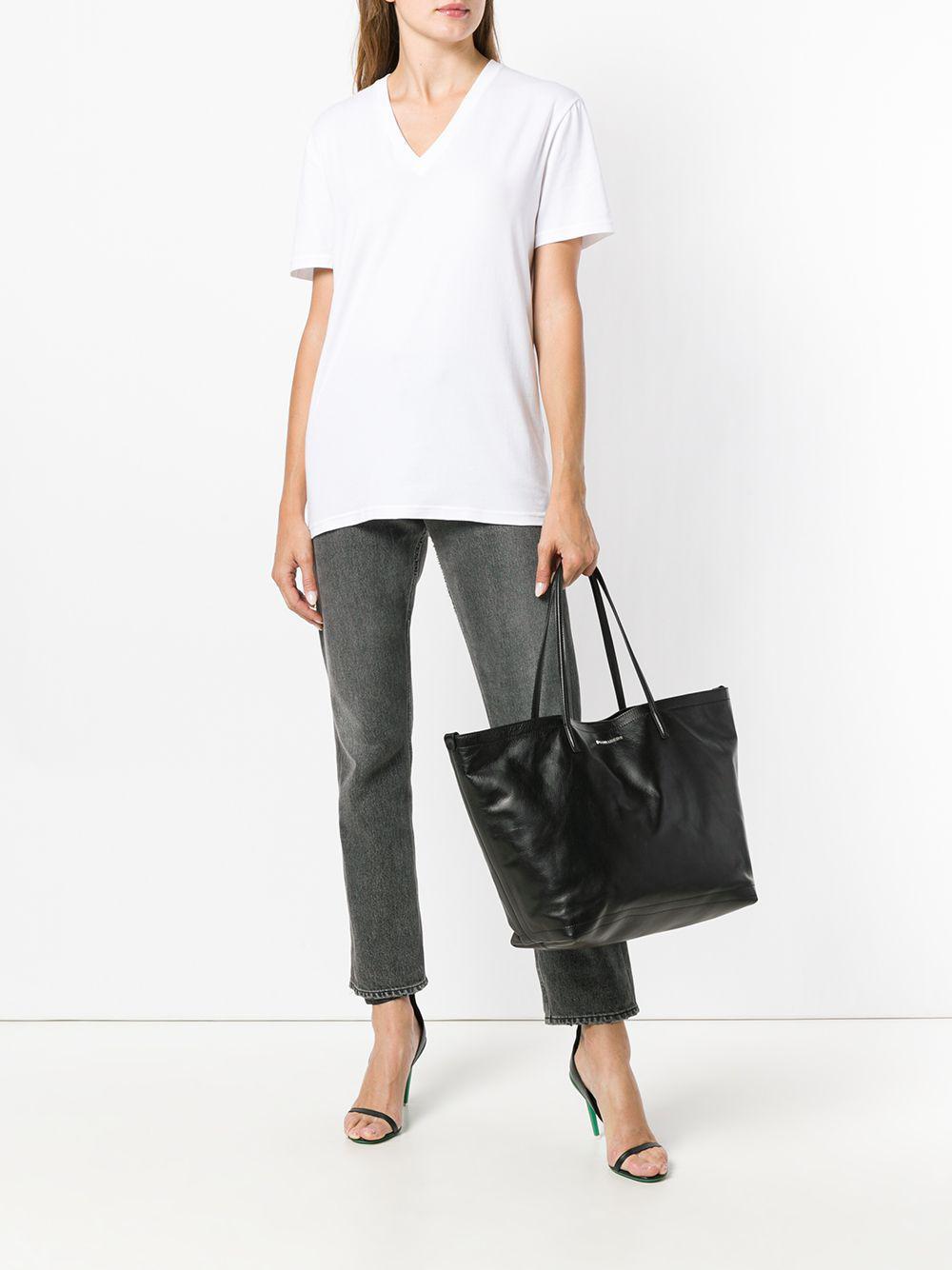 DSquared² Leather Logo Tote Bag in Black