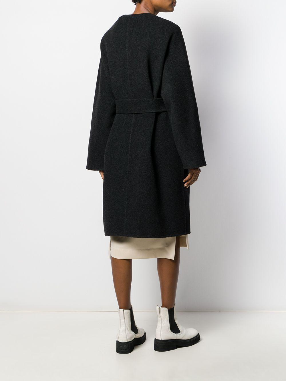 Abrigo estilo boxy texturizado The Row de Lana de color Gris