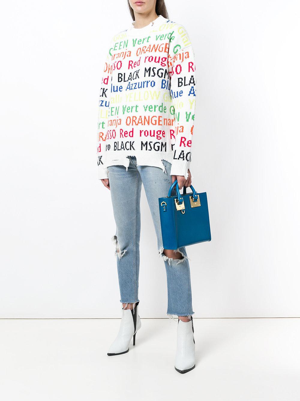 Sophie Hulme Leather Handbags in Blue