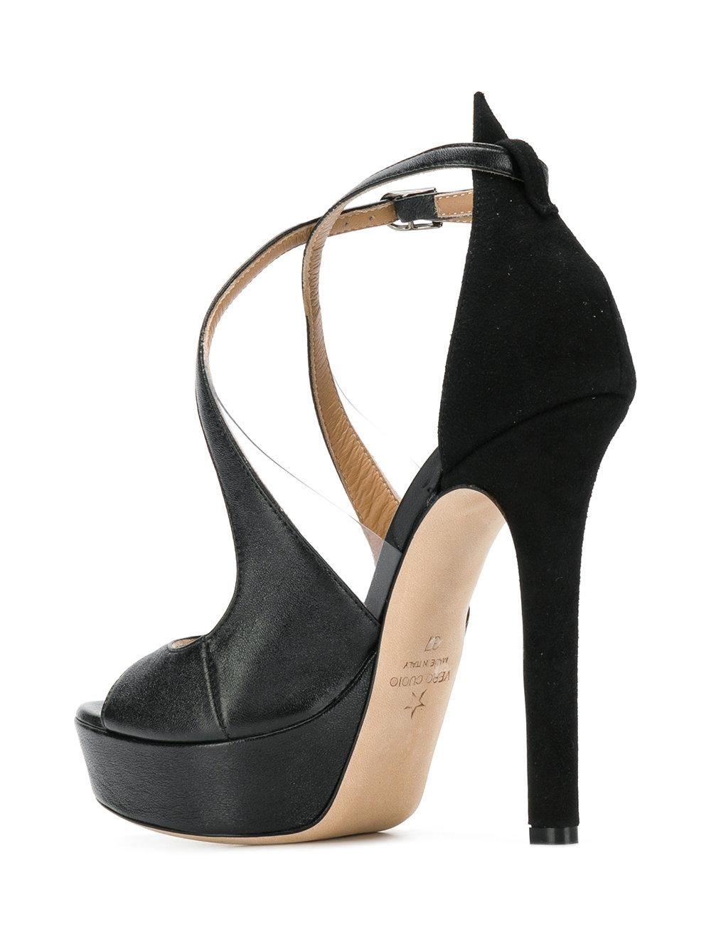0d6d44e747f1 Lyst - Marc Ellis Cross Strap Platform Sandals in Black