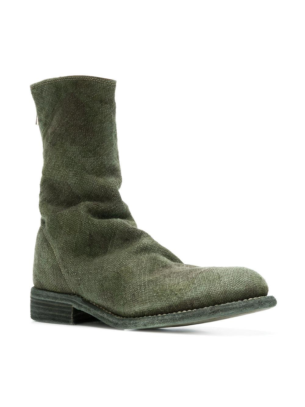 distressed military boots - Green Guidi P0yrBwY