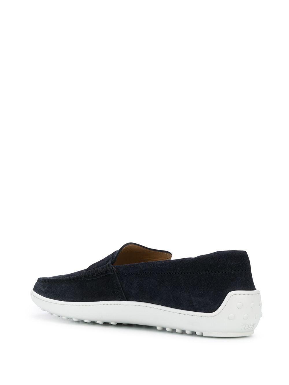 Tod's Suède Loafers Met Contrasterende Zool in het Blauw voor heren